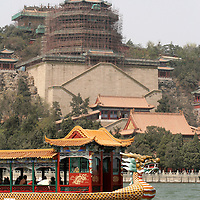 Asia, China, Beijing. Summer Palace Dragon Boat