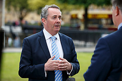 © Licensed to London News Pictures. 26/06/2016. London, UK. Former Defence Secretary LIAM FOX giving TV interviews at College Green outside the Parliament in London on 26 June 2016. Photo credit: Tolga Akmen/LNP