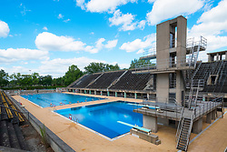 Swimming and diving pools at Olympiastadion ( Olympic Stadium) in Berlin, Germany
