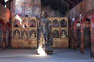Buddha figure in a tibetan temple in the Oscar Film Studios in Ouarzazate, Morocco.