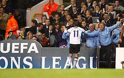 29.09.2010, Withe harde Lane, London, ENG, UEFA CL, Tottenham vs FC Twente, im Bild Tottenham's Rafeal Van der Vaar celebrates  spurs 1st goal. .Tottenham Hotspur v FC Twente, Group A, of the UCL ( Uefa Champions League Group stages).at White Hart Lane in London. EXPA Pictures © 2010, PhotoCredit: EXPA/ IPS/ Kieran Galvin +++++ ATTENTION - OUT OF ENGLAND/UK +++++