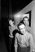 Theatre Festival rehearsal at the Gate Theatre, Dublin on the 25th of September 1962. Picture shows actors Charley Roberts, Dave Kelly and Dermot Kelly.