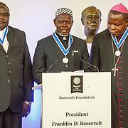 NLD//Middelburg20160421 - Four Freedoms Awards 2016, Dieudonné Nzapalainga, Omar Kobine Layama en Nicolas Guérékoyame-Gbangou