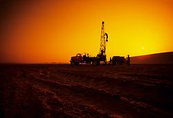 Sand testing in Saudi Arabia desert.