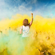 March 7, 2015:  Local Bakersfield residents participate in the Color Me Rad 5k on a warm 85 degree day at the Kern County Fair Grounds in Bakerfsfield, California. © 2015 Gameface Media