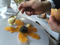 Restaurant Guy Savoy-zucchini blossoms and caviar