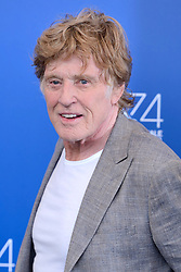 File photo - Robert Redford attending the Our Souls at Night photocall during the 74th Venice International Film Festival (Mostra di Venezia) at the Lido, Venice, Italy on September 01, 2017. Oscar winner Robert Redford will retire from acting following this autumn's release of his upcoming film The Old Man & The Gun, the 81-year-old told Entertainment Weekly in a story published on Monday. Photo by Aurore Marechal/ABACAPRESS.COM