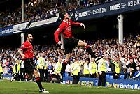 Photo: Paul Thomas.<br /> Everton v Manchester United. The Barclays Premiership. 28/04/2007<br /> <br /> Chris Eagles celebrates Utd's fourth goal.