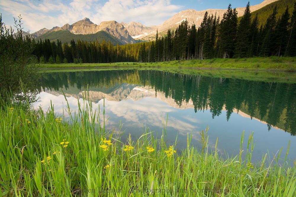 Mirror Pond, Smith Dorrian Valley, Kananaksis, Alberta