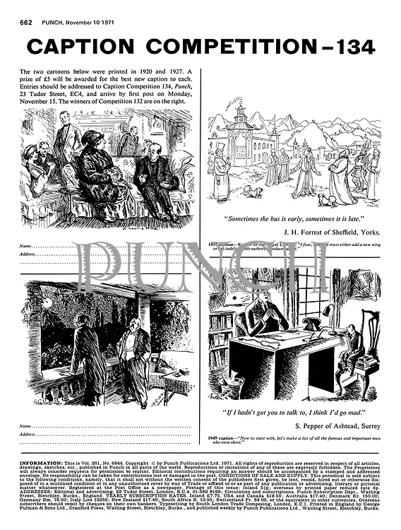 Caption Competition 134, 10 November 1971