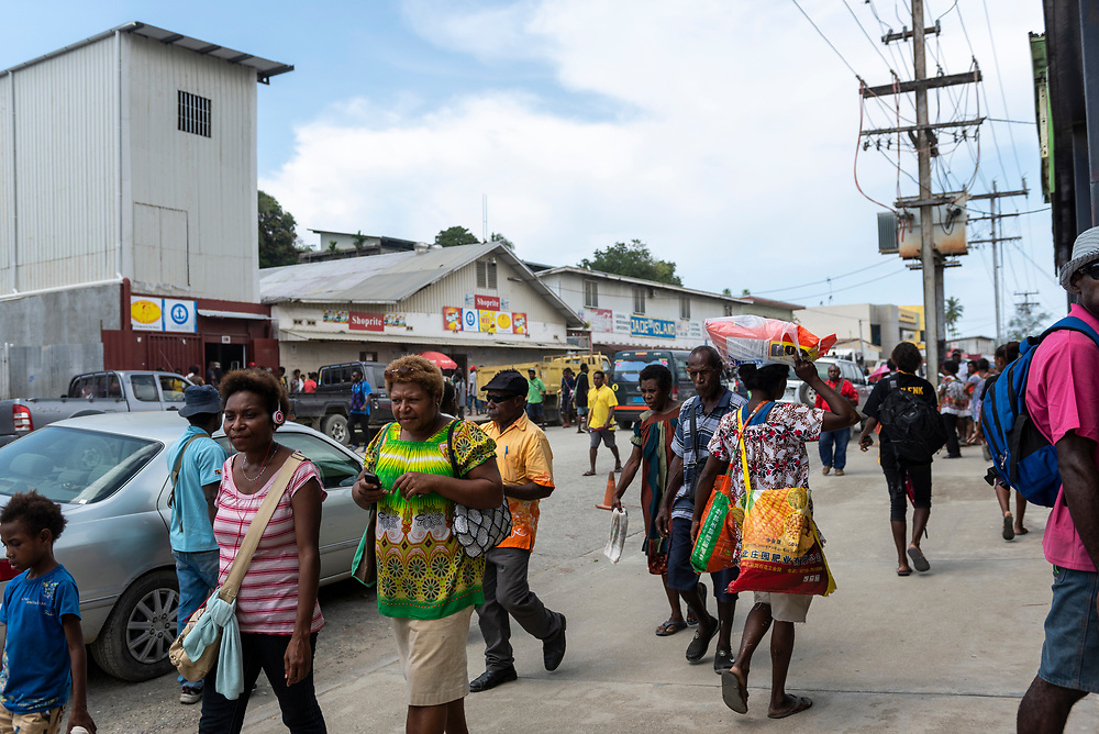 Street scene in Wewak, Papua New Guinea. Wewak is the capital of the East Sepik Province.<br /><br />(July 21, 2017)