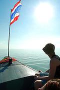 Tourists aboard a boat on the way to Ko samui Thailand
