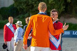 Philippaerts Nicola, BEL, Verlooy Jos, BEL, Schuttert Frank, NED<br /> Longines FEI Jumping Nations Cup™ Final<br /> Barcelona 20128<br /> © Hippo Foto - Dirk Caremans<br /> 07/10/2018