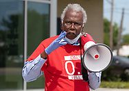 Robert Taylor, founder of the Concerned Citizens of St. John at a protest  calling for the Govonor to shut down petrochemical plants in St. James and St. John the Baptist Parish where African Americans exsposed to pollution are dying at fast rate from COVID-19, on April 11, 2020 in front of the St. John the Baptist Government Building in LaPlace.Louisana