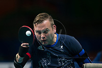 20160908 Copyright onEdition 2016©<br /> Free for editorial use image, please credit: onEdition<br /> <br /> Table Tennis Athlete Rob Davies, (Singles Class 1 - Men), from Brecon, Wales, competing for ParalympicsGB at the Rio Paralympic Games 2016.<br />  <br /> ParalympicsGB is the name for the Great Britain and Northern Ireland Paralympic Team that competes at the summer and winter Paralympic Games. The Team is selected and managed by the British Paralympic Association, in conjunction with the national governing bodies, and is made up of the best sportsmen and women who compete in the 22 summer and 4 winter sports on the Paralympic Programme.<br /> <br /> For additional Images please visit: http://www.w-w-i.com/paralympicsgb_2016/<br /> <br /> For more information please contact the press office via press@paralympics.org.uk or on +44 (0) 7717 587 055<br /> <br /> If you require a higher resolution image or you have any other onEdition photographic enquiries, please contact onEdition on 0845 900 2 900 or email info@onEdition.com<br /> This image is copyright onEdition 2016©.<br /> <br /> This image has been supplied by onEdition and must be credited onEdition. The author is asserting his full Moral rights in relation to the publication of this image. Rights for onward transmission of any image or file is not granted or implied. Changing or deleting Copyright information is illegal as specified in the Copyright, Design and Patents Act 1988. If you are in any way unsure of your right to publish this image please contact onEdition on 0845 900 2 900 or email info@onEdition.com