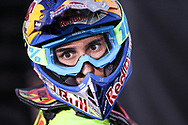 Marvin Musquin prepares to ride the course at the Monster Energy Cup at Sam Boyd Stadium in Las Vegas, Saturday, Oct. 14, 2017. (Joel Angel Juárez / Las Vegas Review-Journal)