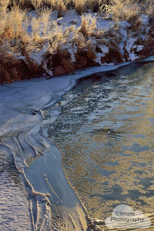 Cold flow in the morning, Uravan, CO.