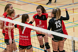 Lisa Vossen of VCN in action during the first league match between Laudame Financials VCN vs. Apollo 8 on February 06, 2021 in Capelle aan de IJssel.