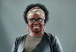 "Edinburgh, Scotland, UK; 16 August, 2018. Pictured; Jennifer Nansubuga Makumbi.  Her debut novel ""Kintu"" reimagine's Uganda's history through the cursed bloodline of the Kintu clan."
