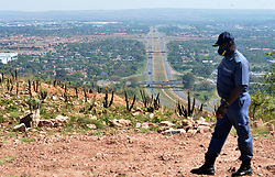 South Africa - Pretoria - 14 October 2020. Law inforcers take a closer look at Theo Martins mountains by R80 highway (Mabopane highway) following a series of complaints about the crimes happening on the mountains and mostly affecting the people in the area.<br /> Picture: Oupa Mokoena/African News Agency (ANA)
