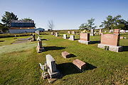 Part of the Stine's family cemetery near their family farm in St. Elmo, Illinois.   (Gordon Stine is featured in the book What I Eat; Around the World in 80 Diets.)