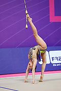Alexandra Agiurgiuculese during the final at the World Cup in Pesaro a in Vitrifrigo Arena on May 28/29, 2021. Alex is an Italian rhythmic gymnastics of bulgarian origin born in Iasi, gennuary 15  2001.