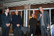 YONG WOO; ALESSANDRO POSSALI; MAURIZIO BORLOTTI;  ULI SIGG; GREG HILLS, Zuecca Project Space and Lisson Gallery host dinner in honour of Ai Weiwe, Bauer Hotel, St. Marco,  Venice Bienalle. 28 May 2013