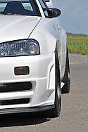 2002 Nissan Skyline BNR34 GTR v Spec II NUR - White.Scoresby Industrial Estate, Melbourne, Victoria .31st of October 2009.(C) Joel Strickland Photographics.Use information: This image is intended for Editorial use only (e.g. news or commentary, print or electronic). Any commercial or promotional use requires additional clearance.