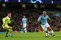 Manchester City's Sergio Aguero in action during todays match  <br /> <br /> Football - 2019 / 2020 UEFA Champions League - Champs Lge Grp C: Man City-D Zagreb<br /> <br /> , at Etihad Stadium<br /> <br /> Colorsport / Terry Donnelly