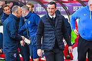 Jack Ross of Sunderland (Manager) during the EFL Sky Bet League 1 first leg Play Off match between Sunderland and Portsmouth at the Stadium Of Light, Sunderland, England on 11 May 2019.