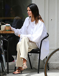 Model Kendall Jenner is enjoying a spring time in New York, she went to a coffee and tea place in Soho then went buy a Tequilla bottle at Astor Wines and Spirits store before to having lunch with friends in The Meat Packing District in New York, NY on April 27, 2021.<br /> Photo by Dylan Travis/ABACAPRESS.COM