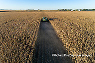 63801-12807 Harvesting corn in fall-aerial  Marion Co. IL