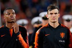 10-10-2019 NED: Netherlands - Northern Ireland, Rotterdam<br /> UEFA Qualifying round Group C match between Netherlands and Northern Ireland at De Kuip in Rotterdam / Denzel Dumfries #22 of the Netherlands, Marten de Roon #15 of the Netherlands