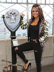 New York - Christina Milian At The Empire State Building - 19 Oct 2016