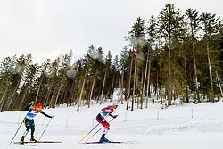 February 22, 2019 - Seefeld In Tirol, AUSTRIA - 190222 Eric Frenzel of Germany and Jan Schmid of Norway compete in men's nordic combined 10 km Individual Gundersen during the FIS Nordic World Ski Championships on February 22, 2019 in Seefeld in Tirol..Photo: Vegard Wivestad GrÂ¿tt / BILDBYRN / kod VG / 170288 (Credit Image: © Vegard Wivestad Gr¯Tt/Bildbyran via ZUMA Press)