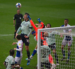 Alex Smithies of Cardiff City punches clear - Mandatory by-line: Jack Phillips/JMP - 03/10/2020 - FOOTBALL - Ewood Park - Blackburn, England - Blackburn Rovers v Cardiff City - English Football League Championship