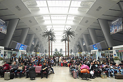 View inside  new modern Beijing South Railway Station in China