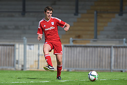 NEWPORT, WALES - Wednesday, August 3, 2016: South Wales Academy Boys' captain Ethan Fackrell during the Welsh Football Trust Cymru Cup 2016 at Newport Stadium. (Pic by Ian Cook/Propaganda)