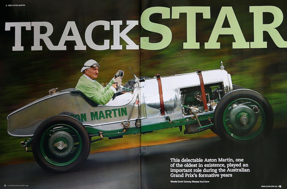 1923 Aston Martin featured in Australian Classic Car magazine - August 2012
