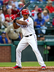 April 23, 2018 - Arlington, TX, U.S. - ARLINGTON, TX - APRIL 23: Texas Rangers third baseman Adrian Beltre gets ready for a pitch during the game between the Texas Rangers and the Oakland Athletics on April 23, 2018 at Globe Life Park in Arlington, Texas. (Photo by Steve Nurenberg/Icon Sportswire) (Credit Image: © Steve Nurenberg/Icon SMI via ZUMA Press)