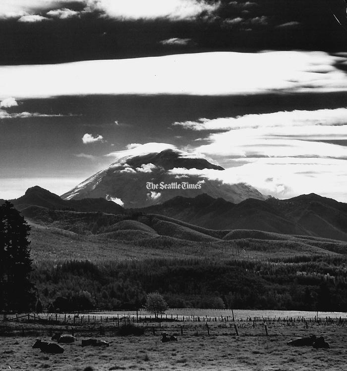 Mount Rainier, 1965. (Josef Scaylea / The Seattle Times)