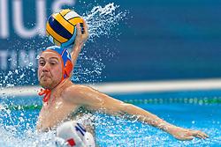 Jesse Koopman #11 of Netherlands during Netherlands vs Malta on LEN European Aquatics Waterpolo January 21, 2020 in Duna Arena in Budapest, Hungary