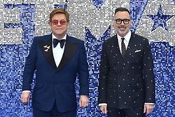May 20, 2019 - London, United Kingdom - Elton John and David Furnish are seen during the Rocketman UK Premiere at the Odeon Luxe Leicester Square in London. (Credit Image: © James Warren/SOPA Images via ZUMA Wire)