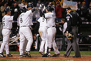 CHICAGO - OCTOBER 23:  Paul Konerko #14 of the Chicago White Sox hits a grand slam home run off of Chad Qualls in the seventh inning during Game 2 of the 2005 World Series against the Houston Astros at US Cellular Field on October 23, 2005 in Chicago, Illinois.  The White Sox defeated the Astros 7-6.
