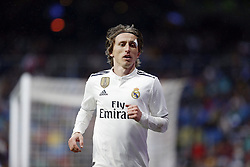 January 19, 2019 - Madrid, Madrid, Spain - Luka Modric (Real Madrid) seen in action during the La Liga football match between Real Madrid and Sevilla FC at the Estadio Santiago Bernabéu in Madrid. (Credit Image: © Manu Reino/SOPA Images via ZUMA Wire)