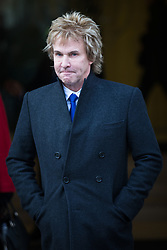 © Licensed to London News Pictures. 05/12/2016. London, UK. Pimlico Plumbers boss Charlie Mullins, a Conservative Party donor who backed the challenge to Theresa May's government over Brexit, leaves the Supreme Court in Westminster. The Court began hearing the Government's appeal against an earlier High Court decision which ruled that Parliament must give consent before Brexit negotiations can begin. Photo credit: Rob Pinney/LNP