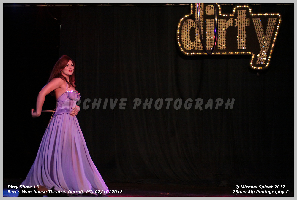 DETROIT, MI, SATURDAY, FEB. 11, 2012: Dirty Show 13, Roxi D'Lite at Bert's Warehouse Theatre, Detroit, MI, 02/11/2012.  (Image Credit: Michael Spleet / 2SnapsUp Photography)