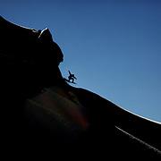 Freerider Shin Biyama od Japan launches off a drop during the World Heli Challenge Freestyle Day at Mount Albert on Minaret Station, Wanaka, New Zealand. 31st July 2011