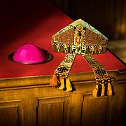 The mitre and the abbot's scullcap.<br /> Mitre et calotte du père abbé. 03-05-16