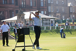 Former US president Barack Obama playing the first tee at St Andrews.